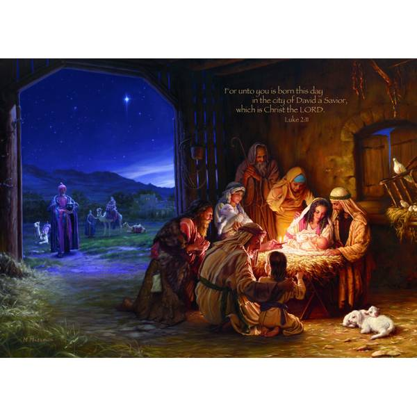 Light of the World Christmas Deluxe Cards