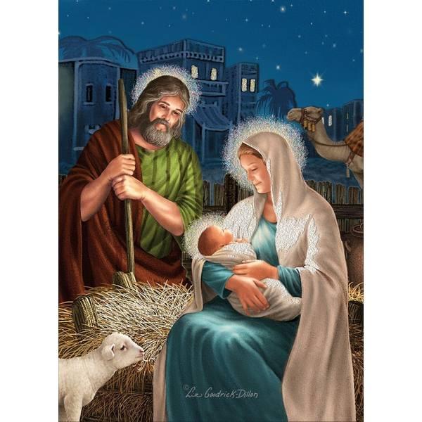 Holy Family Cutout Christmas Cards