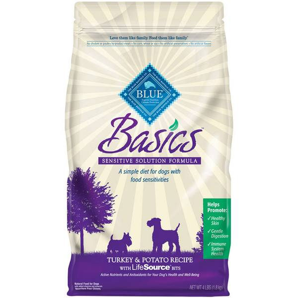 4 lb Basics Grain Free Turkey & Potato Recipe Dog Food
