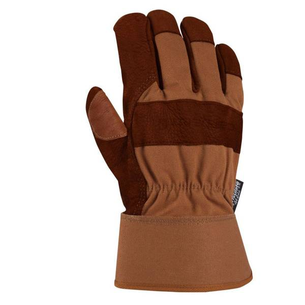 Men's Insulated Bison Work Glove Brown