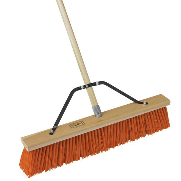 Street Orange Push Broom