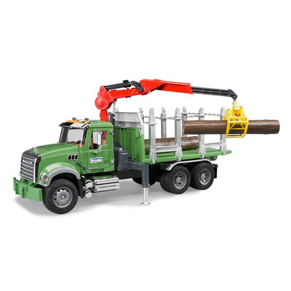 MACK Granite Timber Truck With Loading Crane