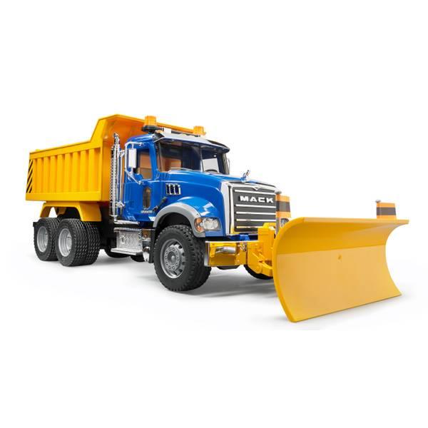 MACK Granite Dump Truck with Snow Plow Blade