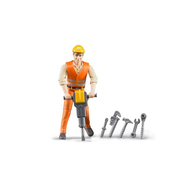 Construction Worker Action Figure with Accessories