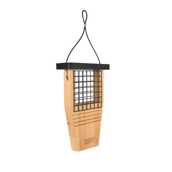 Cedar Suet Tail Prop Bird Feeder