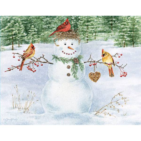 Happy Snowman Boxed Christmas Cards