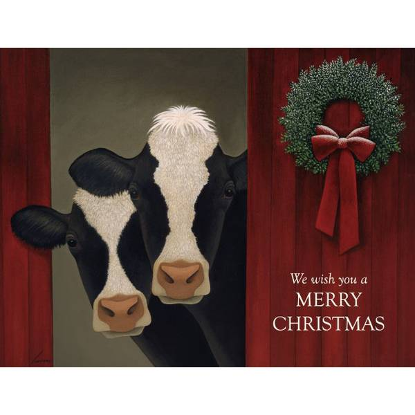 Holiday Cows Boxed Christmas Cards