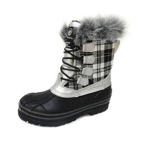 Women's Plaid Winter Pac Boot