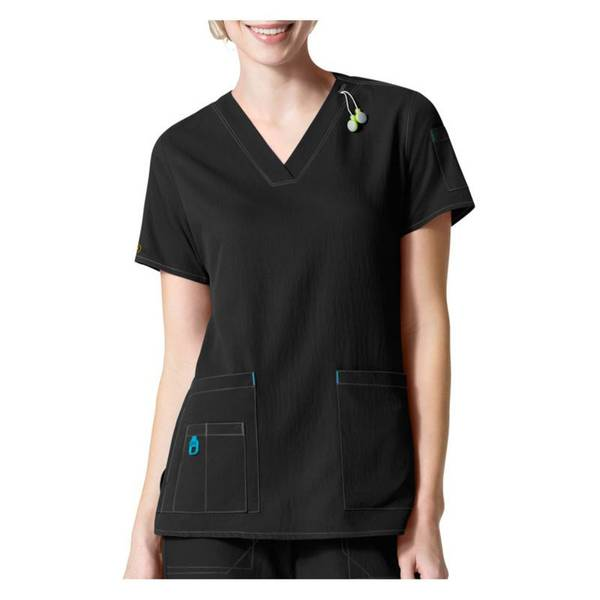 Cross-Flex V-Neck Media Scrub Top