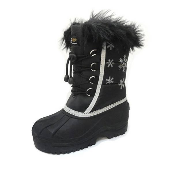 Girls' Snowflake Winter Pac Boot