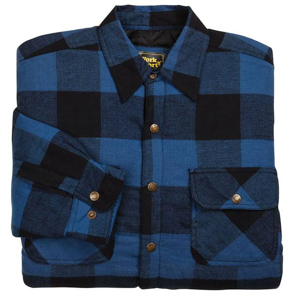 Work N Sport Men S Stay Dry Quilt Lined Flannel Shirt