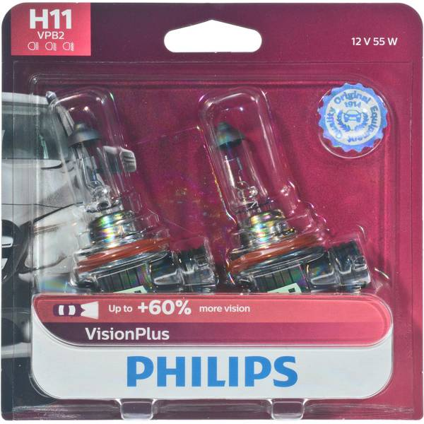 H11 VisionPlus Headlight (Twin Pack)