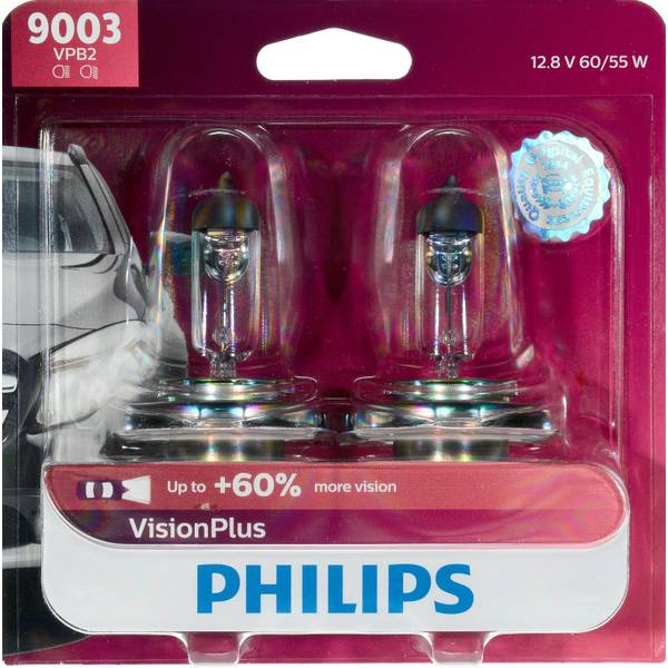 9003 VisionPlus Headlight (Twin Pack)