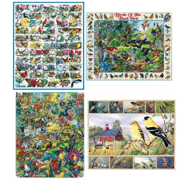 1000-Piece Birds Puzzle Assortment