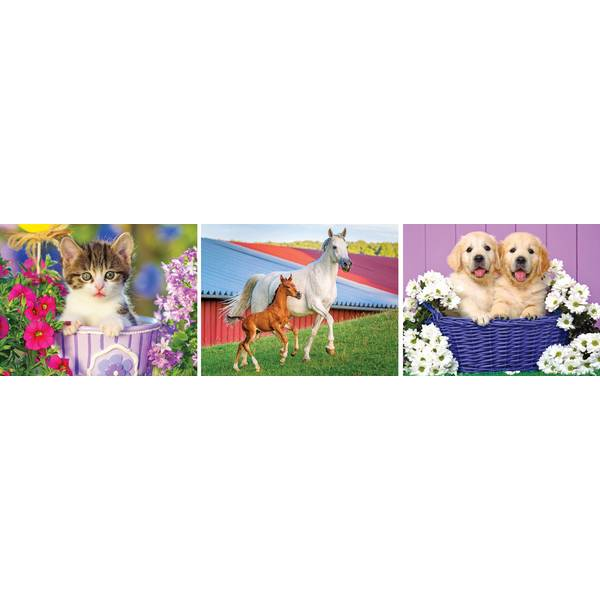 100 Piece Colorluxe Animal Puzzle Assortment