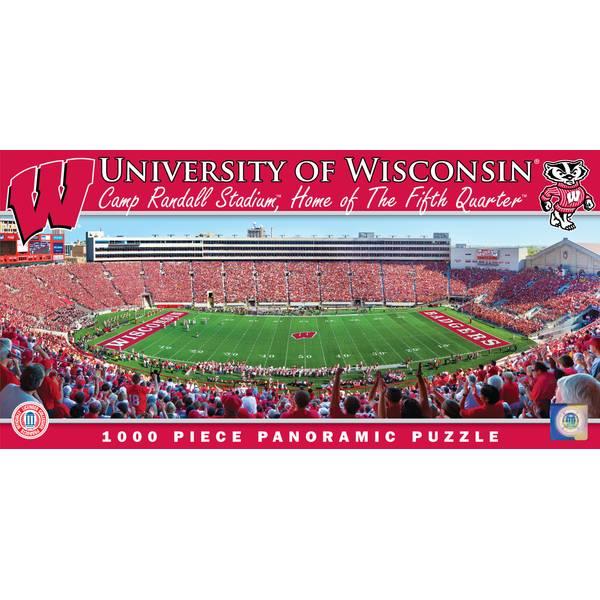 NCAA Wisconsin Badgers Stadium Panoramic Jigsaw Puzzle