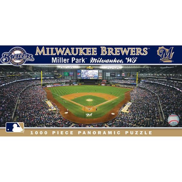 MLB Panoramic Milwaukee Brewers Puzzle