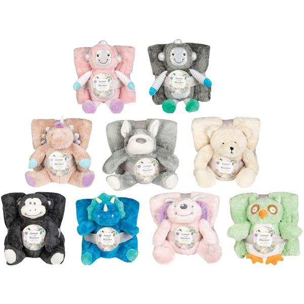 Bear & Blanket 2-Piece Gift Set Assortment