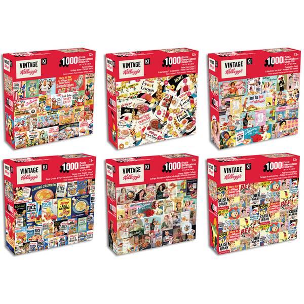 1000-Piece Retro Kellogg's Characters Puzzle Assortment