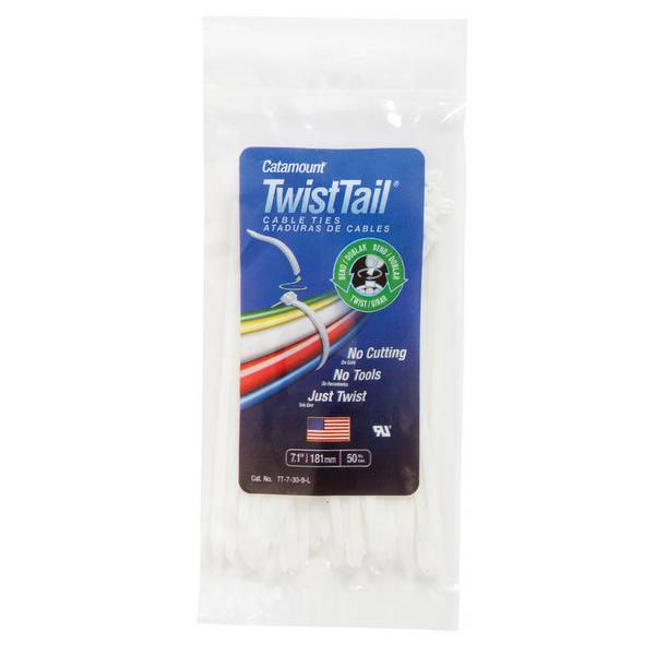 50 Pack TwistTail Cable Ties