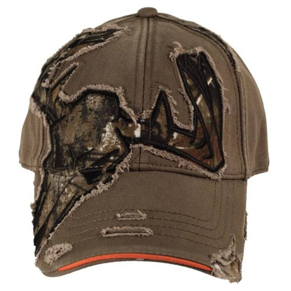 Men's Brown Skull Cut Away Cap