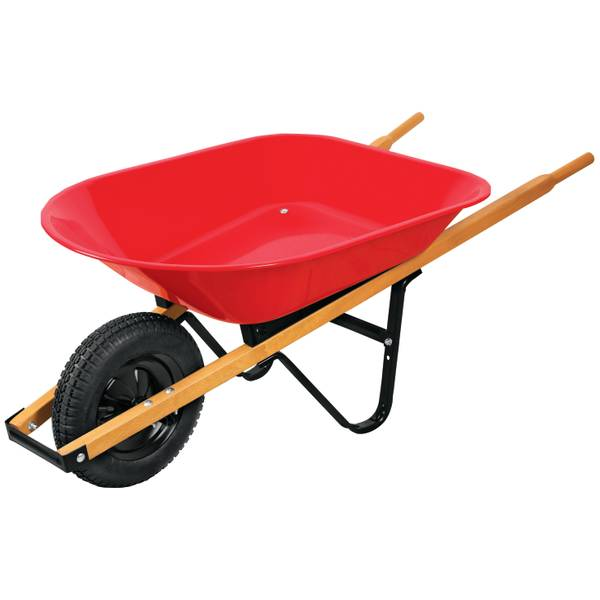 4 Cubic Feet Steel Wheelbarrow