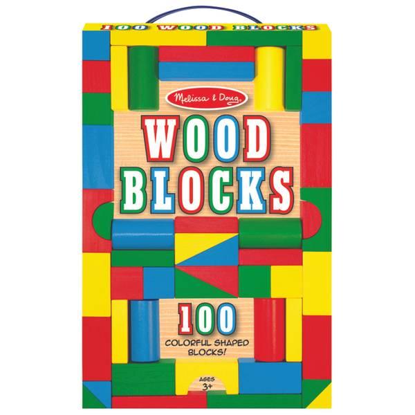 100-Piece Wood Blocks Set