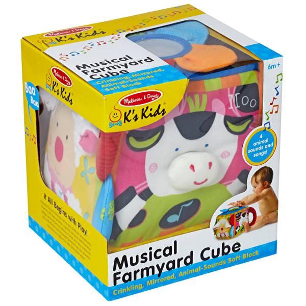 K's Kids Musical Farmyard Cube