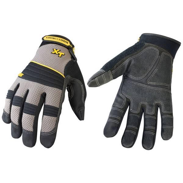 Men's Black and Gray Pro XT Gloves