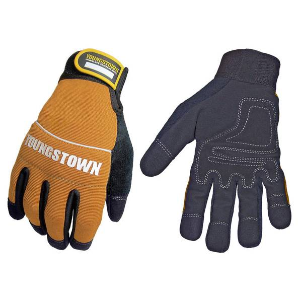 Men's Black and Yellow Tradesman Plus Gloves
