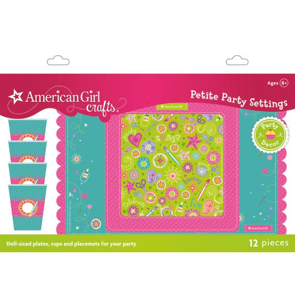 Doll Size Plates Cups & Placemats