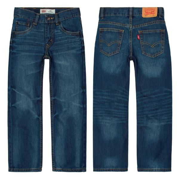 Boys' Blue Regular Fit Straight Jeans