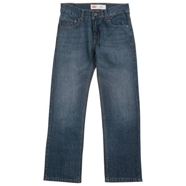 Boys' Blue Regular Fit Straight Jeans