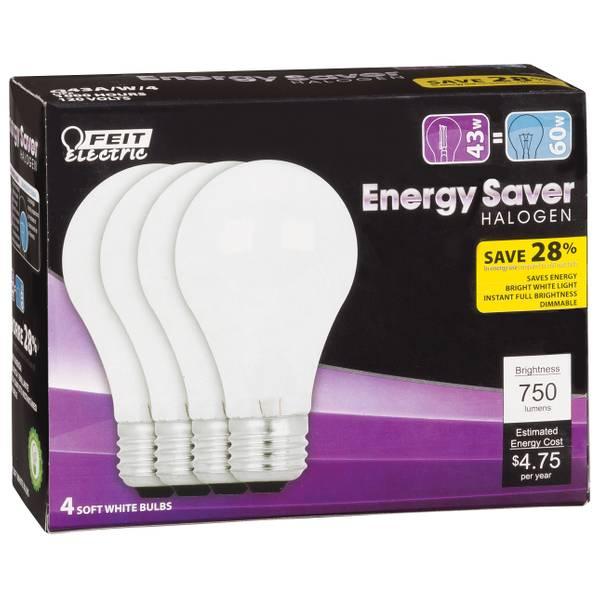 Energy Saving 43 Watt Halogen A19