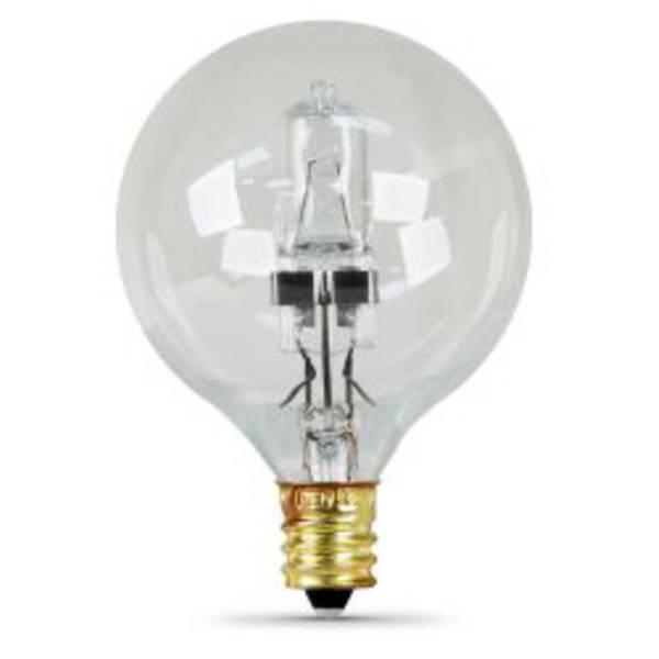2 Pack Halogen 40 Watt G16.5 Clear 60 Watt Equivalent Bulb