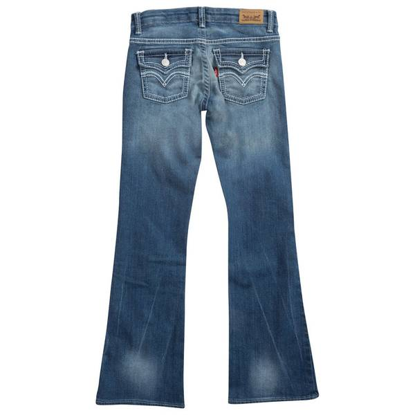 Girls' Thick Stitch Bootcut Jeans