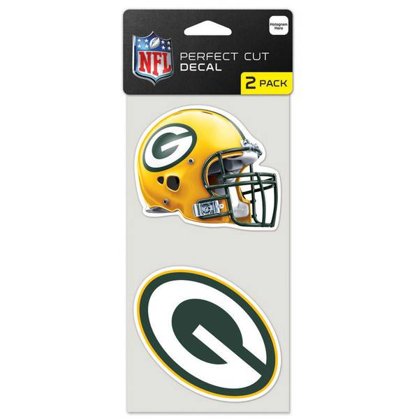 "Green Bay Packers 4"" x 8"" Die Cut Decals"