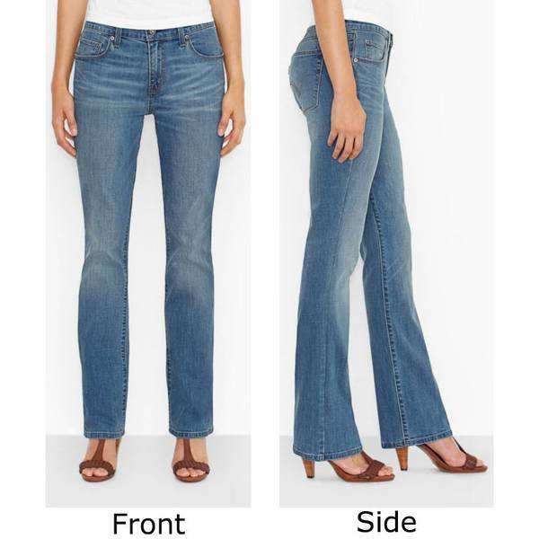 Misses Dark Wash Blue 515 Undercurrent Boot Cut Jeans