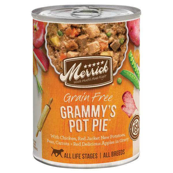 13.2 oz Grain Free All Life Stages Grammy's Chicken Pot Pie Dog Food