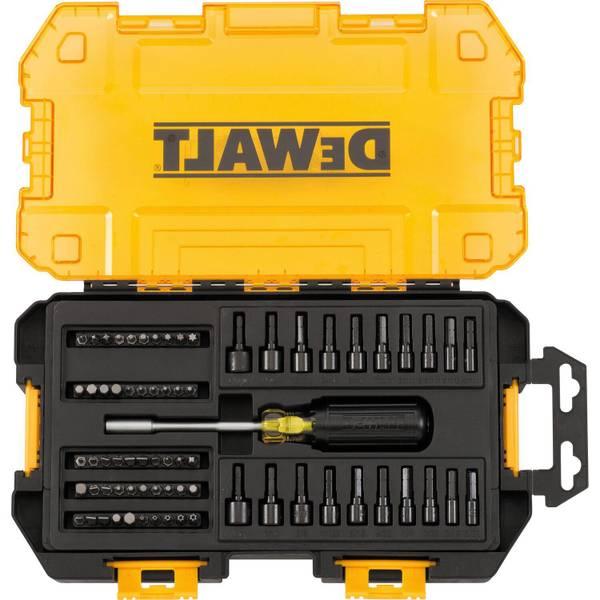 """1/4"""" Multi-Bit & Nut Driver Set Tough Box Tool Kit"""
