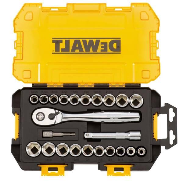 """1/2"""" Drive Socket Set Tough Box Tool Kit"""