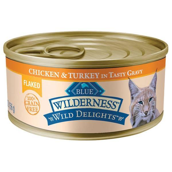 Wild Delights Chicken & Turkey Flaked Wet Cat Food