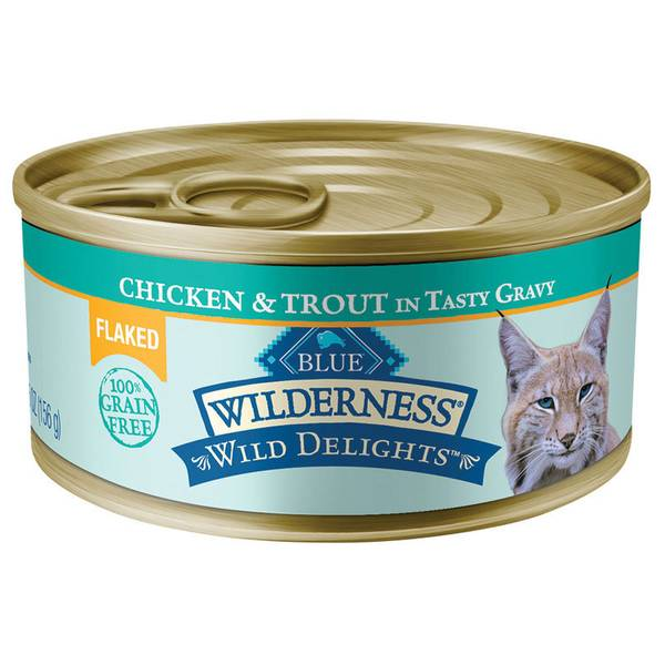 Wild Delights Chicken & Trout Flaked Wet Cat Food