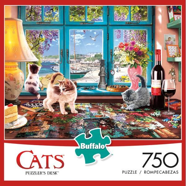 750-Piece Cat Tales by Charles Wysocki Jigsaw Puzzle Assortment