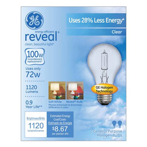 Energy-Efficient Reveal Clear Halogen Bulb