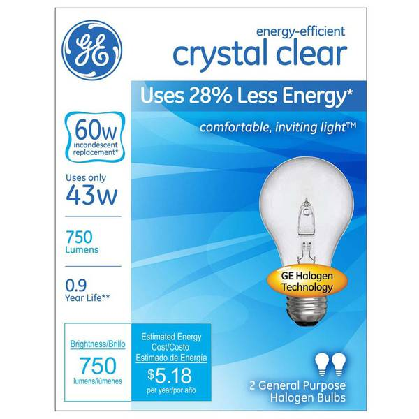 2pk 43W Energy-Efficient Crystal Clear