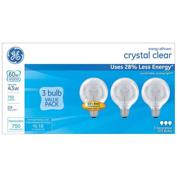 3pk 43W G25 Bulbs