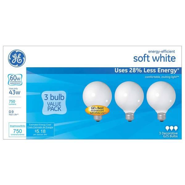 3pk 44W G25 Bulbs