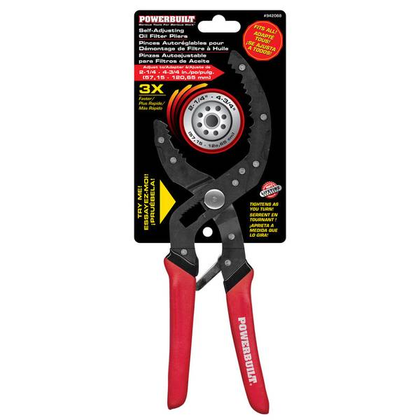 Self Adjusting Oil Filter Pliers