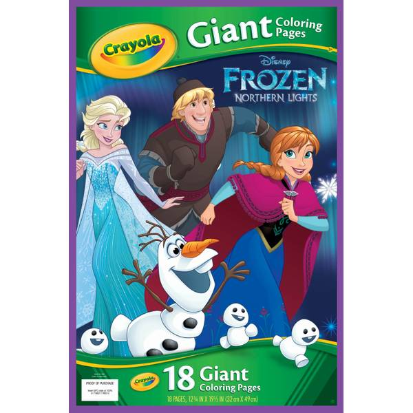 Crayola Disney Frozen Giant Coloring Pages | Blain's Farm ...
